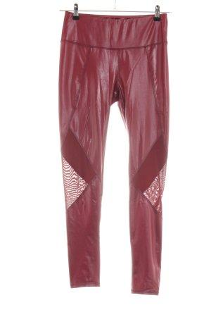 SheIn Leggings rojo look casual