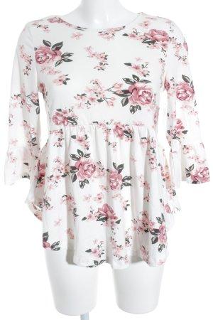 SheIn Longshirt Blumenmuster minimalistischer Stil