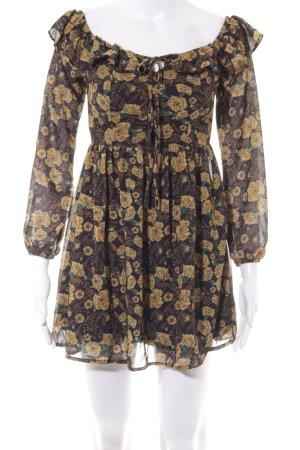 SheIn Minikleid Blumenmuster Casual-Look