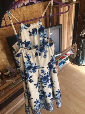SheIn Babydoll Dress white-dark blue