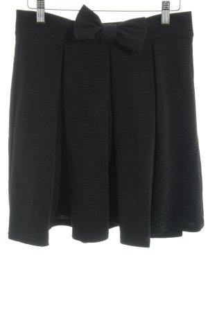 SheIn Cirkelrok zwart zakelijke stijl