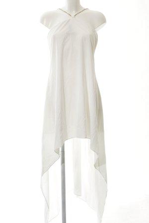 SheIn Vokuhila-Kleid weiß-goldfarben Elegant