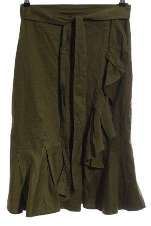 SheIn Wraparound Skirt forest green casual look