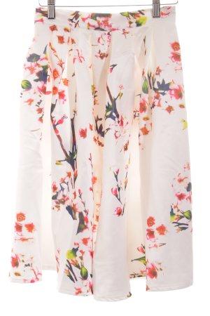 Sheinside Ballonrock florales Muster Street-Fashion-Look