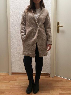 Sheinside Blogger Mantel Wolloptik beige meliert Größe S/M