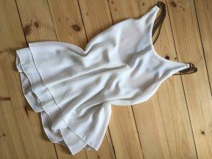 Sheinside Bluse rückenfrei mit Ketten transparent