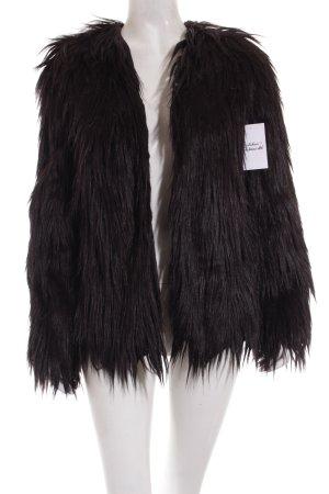 Sheinside Felljacke schwarz extravaganter Stil