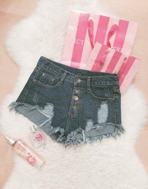 SheInside High Waist Shorts Blogger Hot Pants Destroyed Gr.XS/S
