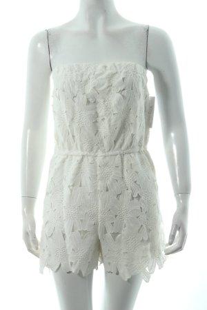 Sheinside Combinaison blanc motif de fleur Look de plage