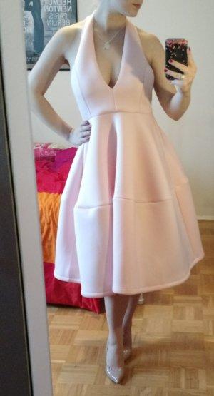 Sheinside Kleid Gr. M 38 Midi scuba neopren beige rosa nude rückenfrei shein