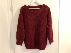 Sheinside Pull tricoté bordeau