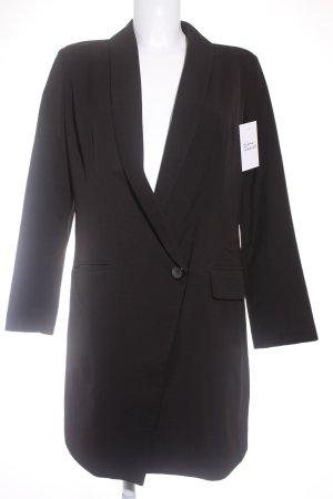 Sheinside Blazer de esmoquin negro elegante