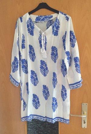 SheInside Tunika weiß blau Muster gr. M/L Blogger neu