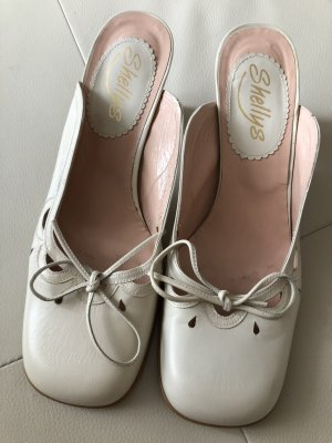 Shellys Heel Pantolettes natural white-cream