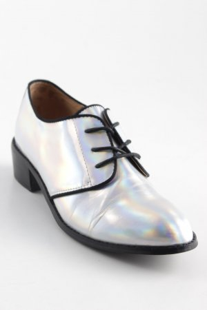 Shellys Zapatos estilo Oxford color plata estilo «business»