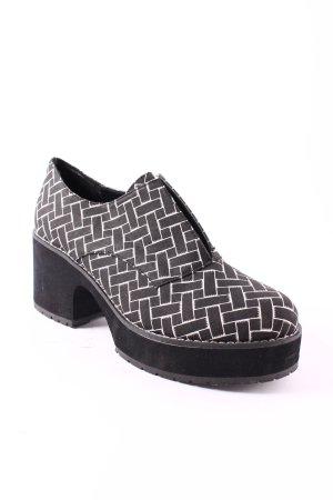 Shellys Schlüpfschuhe schwarz-weiß grafisches Muster Casual-Look
