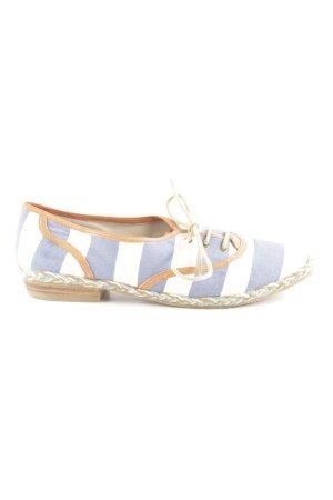 Shellys Schnürschuhe creme-blau Streifenmuster Casual-Look