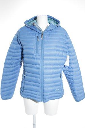 Sherpa Daunenjacke blau-türkis Logostickerei