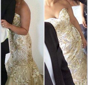 Sherri Hill Abendkleid in Gold Größe 8