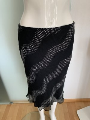 Yessica Midi Skirt black-white