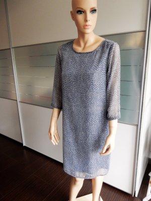 Shiftkleid, graublau mit zarten Strichen – Gr. 38