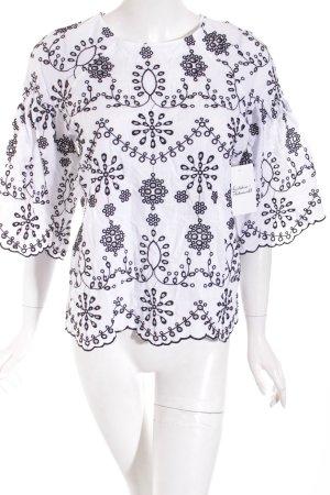 SheIn Tunikabluse schwarz-weiß klassischer Stil