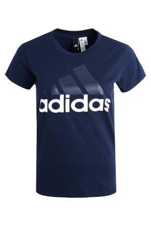 Adidas T-shirt blanc-bleu foncé