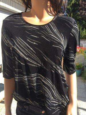 Bexleys Camiseta negro-color plata