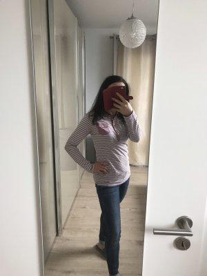Tommy Hilfiger Camiseta tipo polo color rosa dorado-blanco