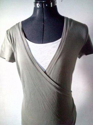 Zero Wraparound Shirt white-khaki