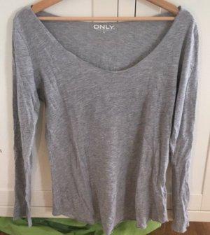 Only Camicia lunga grigio chiaro