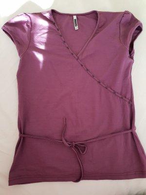 Wikkelshirt paars-grijs-lila