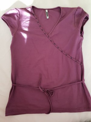 Camisa cruzada púrpura-lila grisáceo