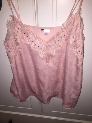 Be only Top basic color oro rosa-bianco Materiale sintetico