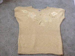 Camisa tejida amarillo pálido