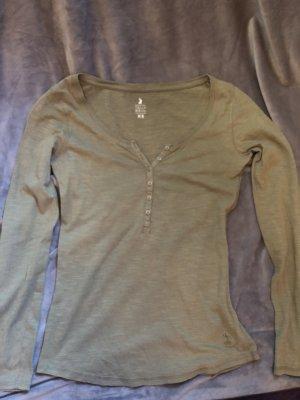 Tally Weijl Camisa con cuello V gris verdoso