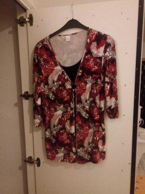 Shirt 2 in 1 Effekt rot schwarz in 46
