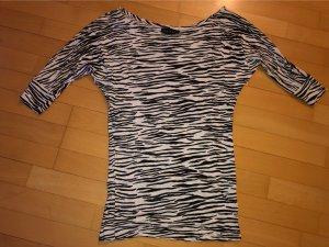 Melrose Oversized shirt zwart-wit