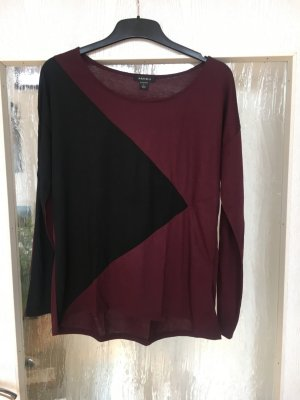 Amisu Long Shirt black-purple