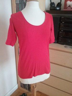 Shirt 2er Pack  mit 3/4Ärmeln rot/hellgrau in Gr.L