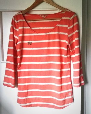 Shirt 3/4 Arm in Gr. M, 38. Gestreift creme, lachs, rosa, wie NEU