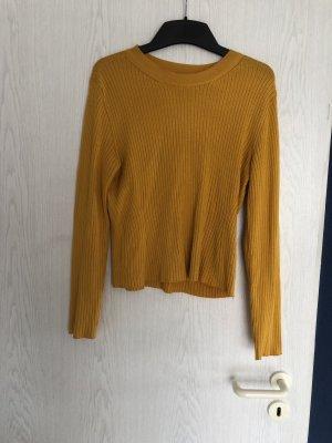 H&M Chemise côtelée jaune-orange doré