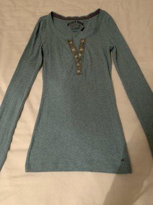 Hilfiger Denim Chemise côtelée turquoise coton