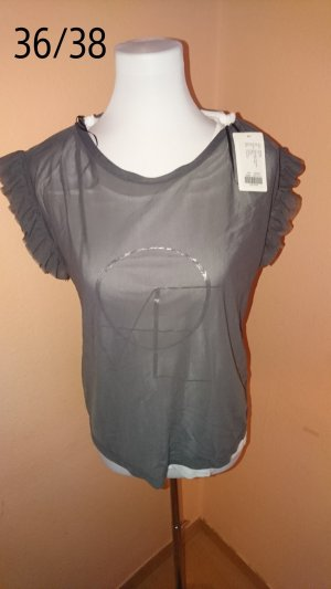 Bodyflirt T-shirt wit-zilver