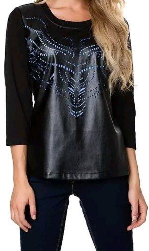 Shirt 36 schwarz mit Muster.