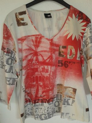 One Touch V-hals shirt veelkleurig Gemengd weefsel