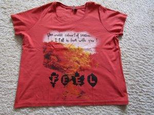 Sheego Camisa rojo claro-salmón Algodón