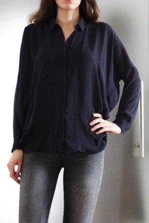 COS Camisa de manga larga azul oscuro Poliéster