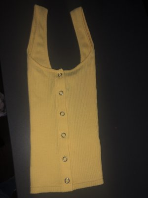 H&M Camisa acanalada naranja dorado
