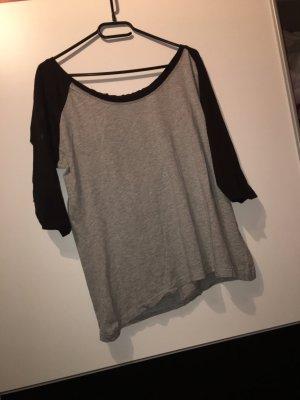 Urban Classics Short Sleeve Sweater black-grey